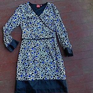 Oscar De La Renta polkadot silk dress